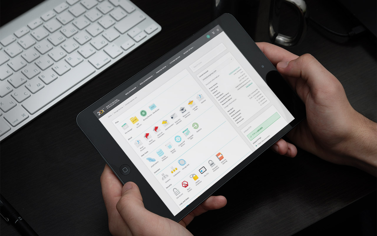 StackCP displayed on a Tablet