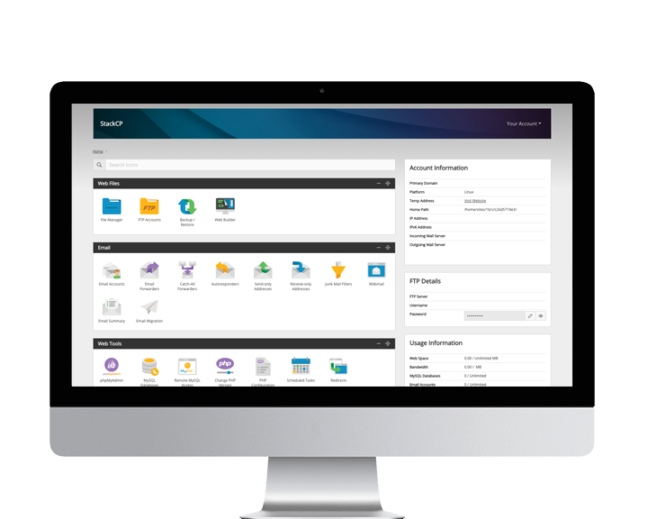 StackCP Reseller Hosting Control Panel