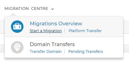 Migrations menu
