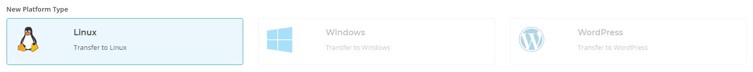 Platform choices: Linux, Windows, WordPress