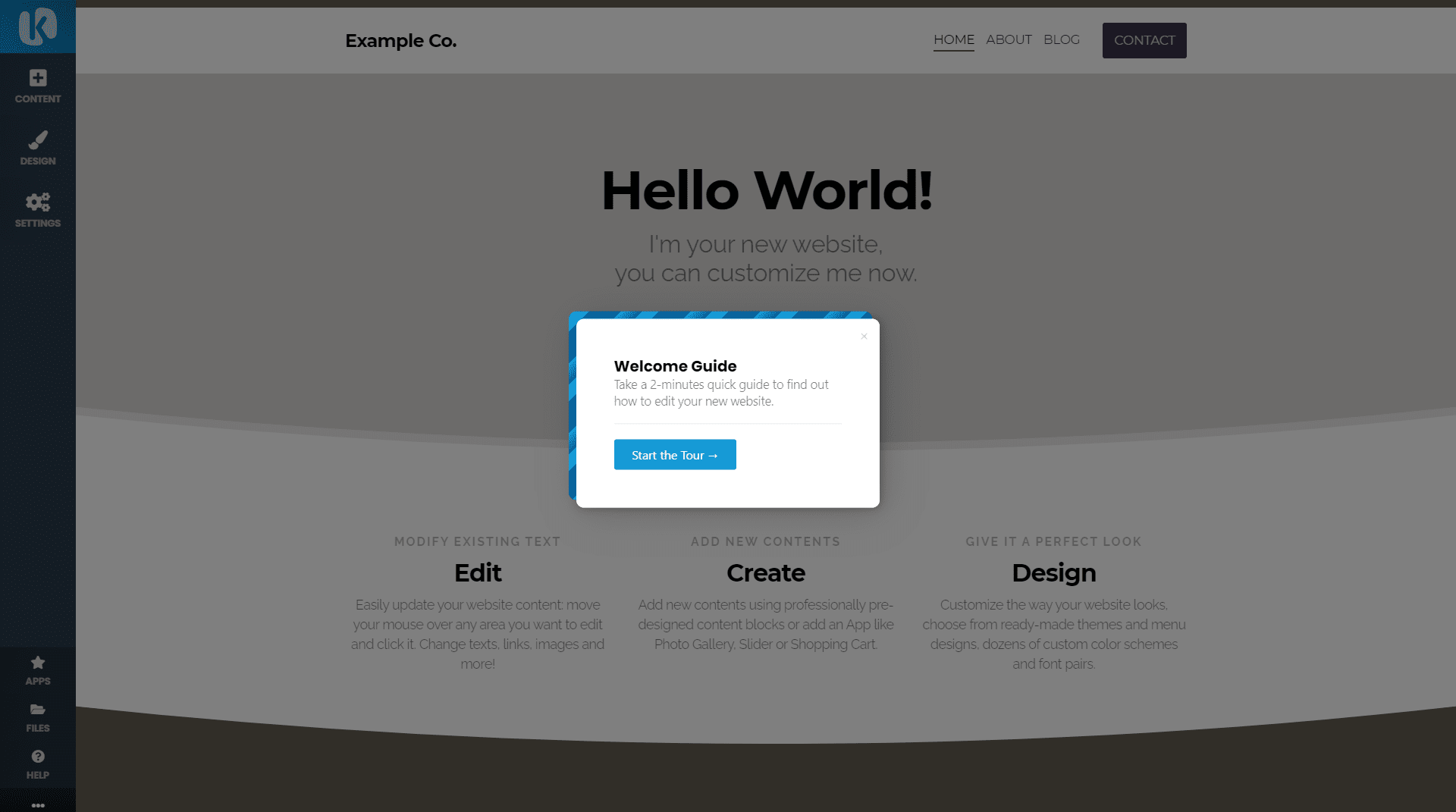 Website builder welcome guide
