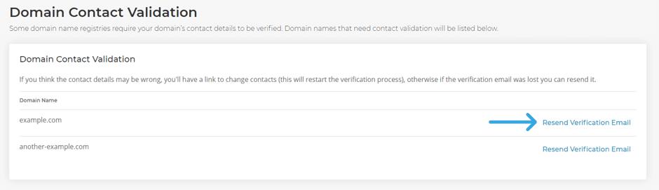 Domain Contact Validation