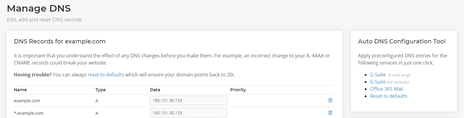 Manage DNS records for Office 365