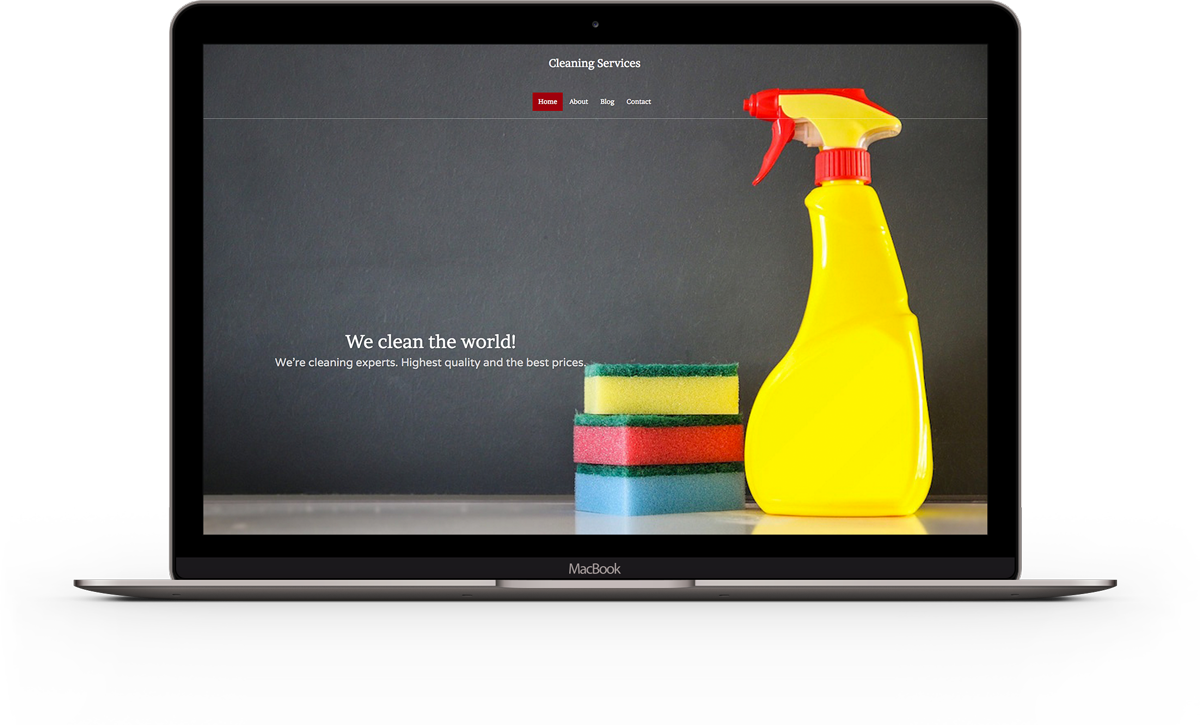 Cleaners Website Template
