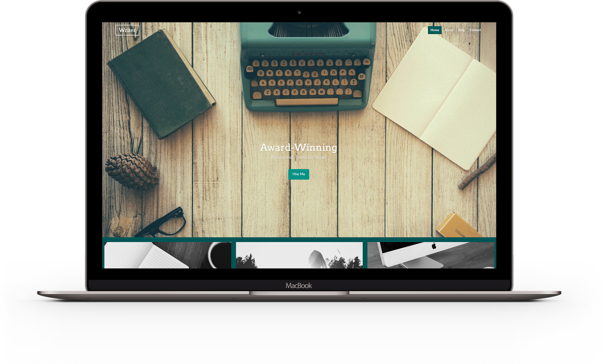Create modern responsive websites with our website builder writer website template maxwellsz
