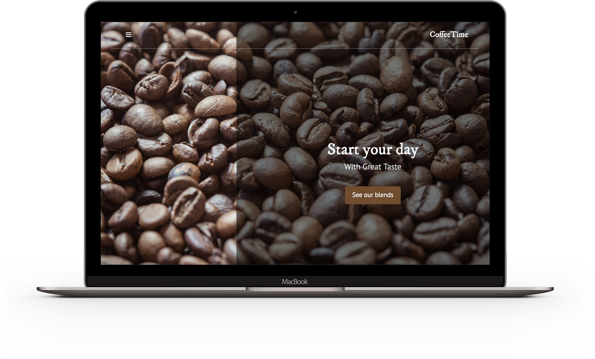 Coffee Shop Website Template
