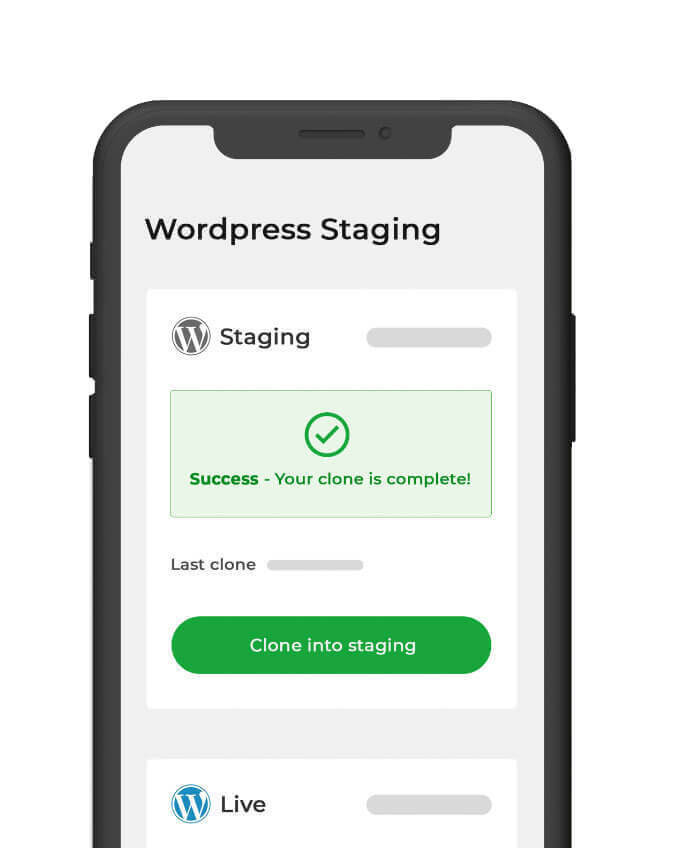 WordPress staging