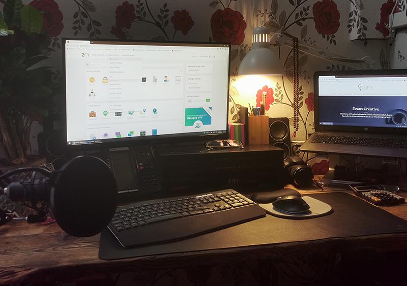 Chris Evans' home office