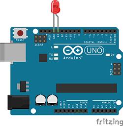 An Arduino chip
