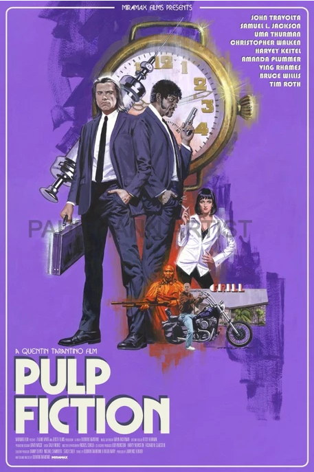 Pulp Fiction fan art poster