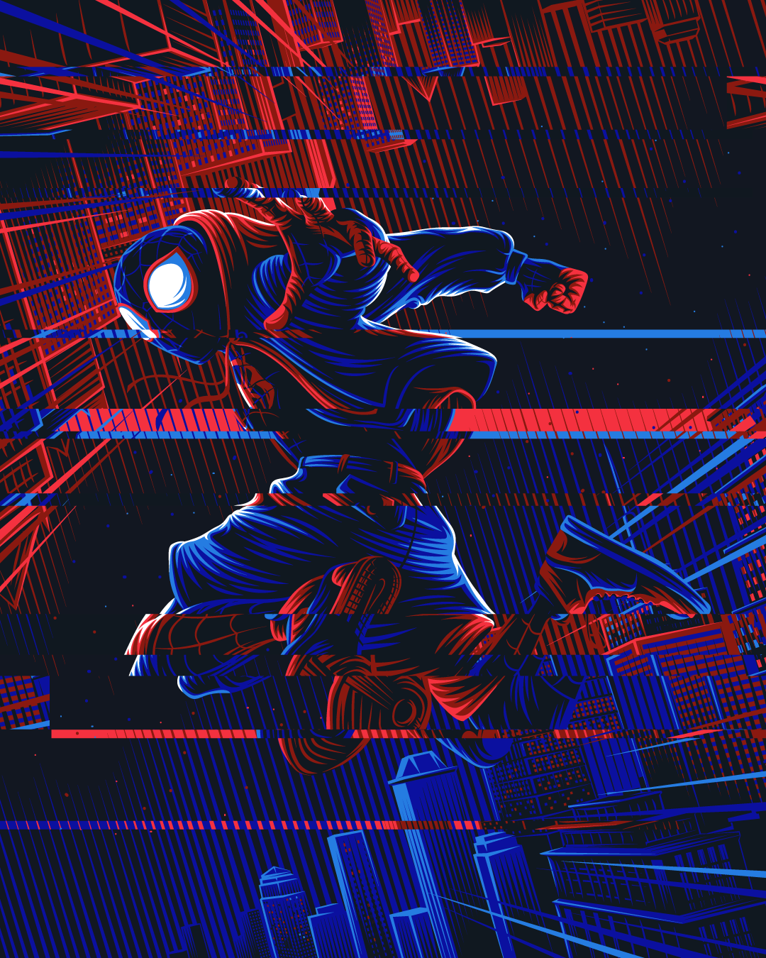 Spiderman: Into the Spiderverse fan art poster