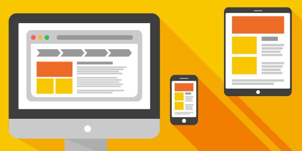 Responsive theme on desktop, mobile and tablet