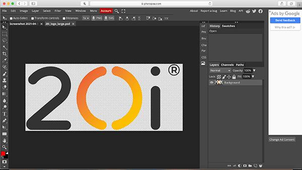 Photopea interface image manipulation