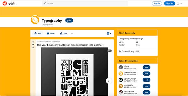 typography subreddit