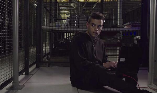 A hacker in data centre