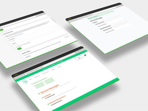 System hosting status customisation
